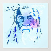 gandalf Canvas Prints featuring Gandalf by BIG Colours