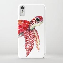 Turtle Children Animal design Red, pink Orange cute turtle iPhone Case