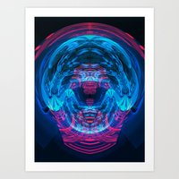 brain waves Art Prints featuring Brain Waves by Carlos Alberto Torres