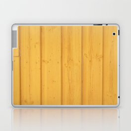 Dark texture fence rough yellow wood Laptop & iPad Skin