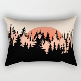 forest sunset Rectangular Pillow