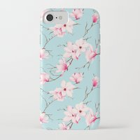 magnolia iPhone & iPod Cases featuring Magnolia by EclipseLio