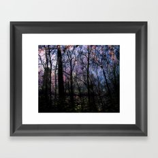 Through (variation) Framed Art Print