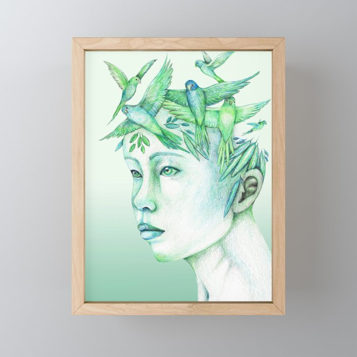 The free thoughts Framed Mini Art Print