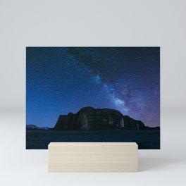 Milky Way Over Wadi Rum Mini Art Print
