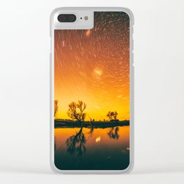 World Spins Madly On Clear iPhone Case
