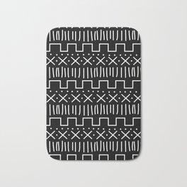 Black Mud Cloth Bath Mat