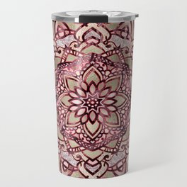 Burgundy plum mandala Travel Mug