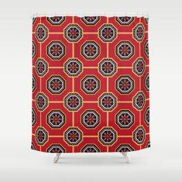 Futuro Desconhecido Portuguese Azulejo Tile Pattern Shower Curtain