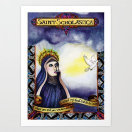 St. Scholastica Art Print