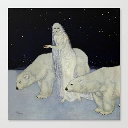 """The Snow Queen"" Fairy Tale Art by Edmund Dulac Canvas Print"