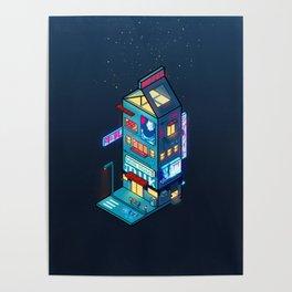 Cyberpunk Milk Poster