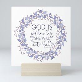 Christian Bible Verse Quote - Psalm 46-5 Mini Art Print