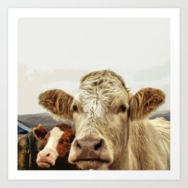 A cow greeting is like no other Art Print