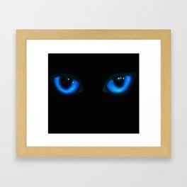 Cat Eyes Framed Art Print