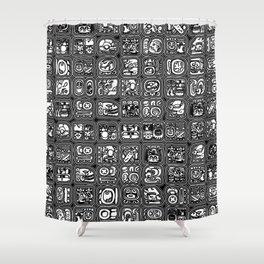 Mayan Temple B&W Shower Curtain