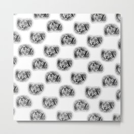 Pattern of a dog smiling Metal Print