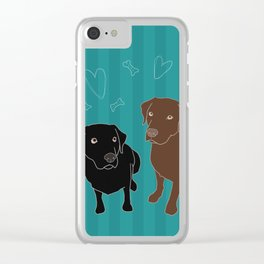 Retriever ChocoBlack Clear iPhone Case