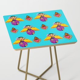 Angels and Hearts Turquoise Side Table