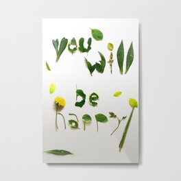 """Visual Proposal by Ethan Park """"You will be happy"""" Metal Print"""