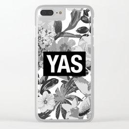 YAS B&W Clear iPhone Case