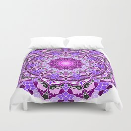 aurora mandala purple Duvet Cover