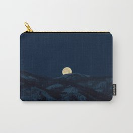 Moonset on the Wasatch Back Carry-All Pouch