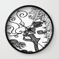 afro Wall Clocks featuring Afro  by Camila Rodrigué