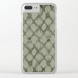 Braided Diamond Simply Green Tea Clear iPhone Case