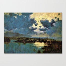 David Young Cameron - Moonlit Marsh - Digital Remastered Edition Canvas Print