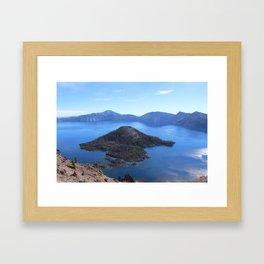 Autum at Crater Lake Framed Art Print