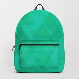 Bright marine triangles in intersection and overlay. Backpack