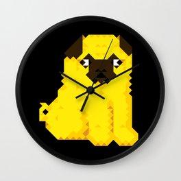 Exel Pug Wall Clock