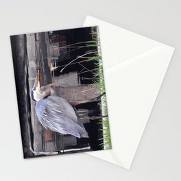 Great Blue Heron Waiting Stationery Cards