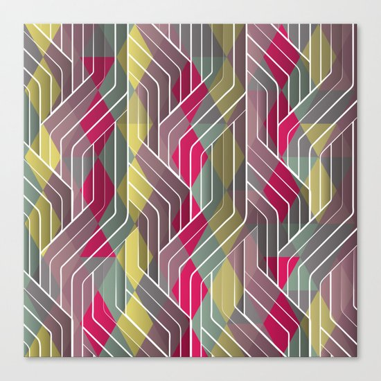 Decorative Pattern Triangles Canvas Print
