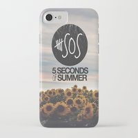 5 seconds of summer iPhone & iPod Cases featuring 5 seconds of summer sunflowers by Rose