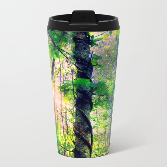 Forest of the Fairies (Deep Pastels) Metal Travel Mug