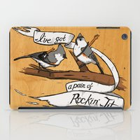 tits iPad Cases featuring Rockin' Tits by Alex Groh