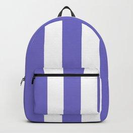Violet-blue (Crayola) - solid color - white vertical lines pattern Backpack