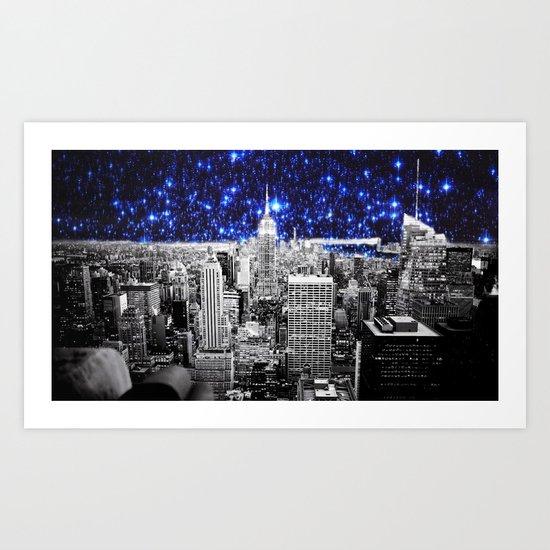 new york city. Blue Stars Art Print
