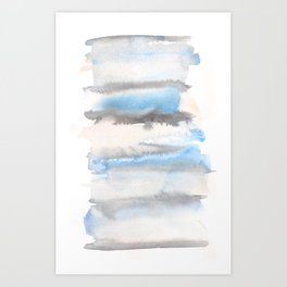 150129 Neutral Cool Abstract 21 Art Print