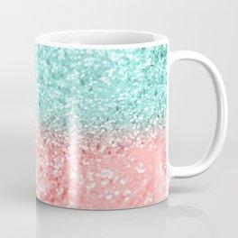 Summer Vibes Glitter #1 #coral #mint #shiny #decor #art #society6 Coffee Mug