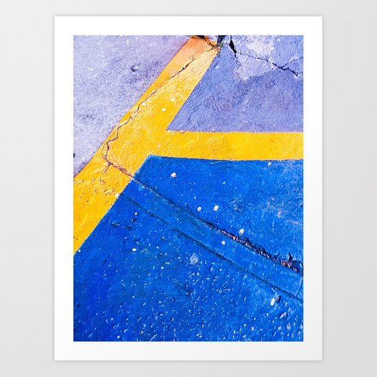 Abstract Blue and Yellow II Art Print