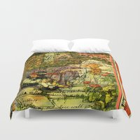 sleeping beauty Duvet Covers featuring SLEEPING BEAUTY by Bones and Balloons