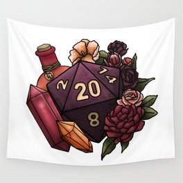 Sorcerer Class D20 - Tabletop Gaming Dice Wall Tapestry