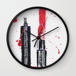 GivenchyLipstick Wall Clock