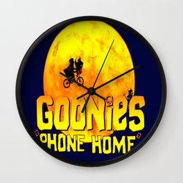 Yellow Goonies Phone Home Wall Clock