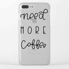 Need More Coffee Clear iPhone Case