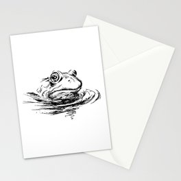 Head of the frog Stationery Cards