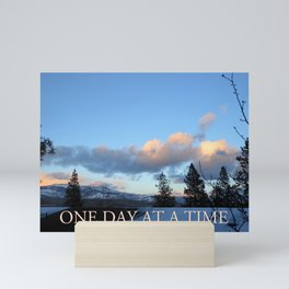 One Day at a Time Rooftop, Hills, and Trees Mini Art Print
